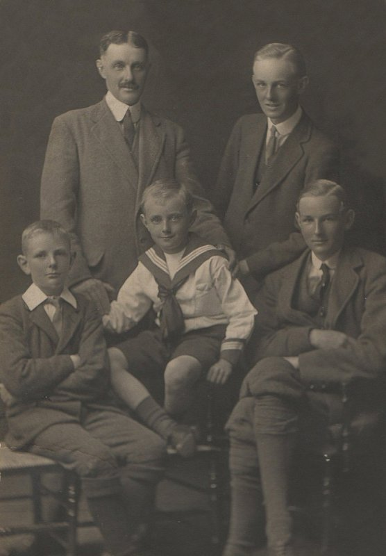 Harry and his four sons about 1908