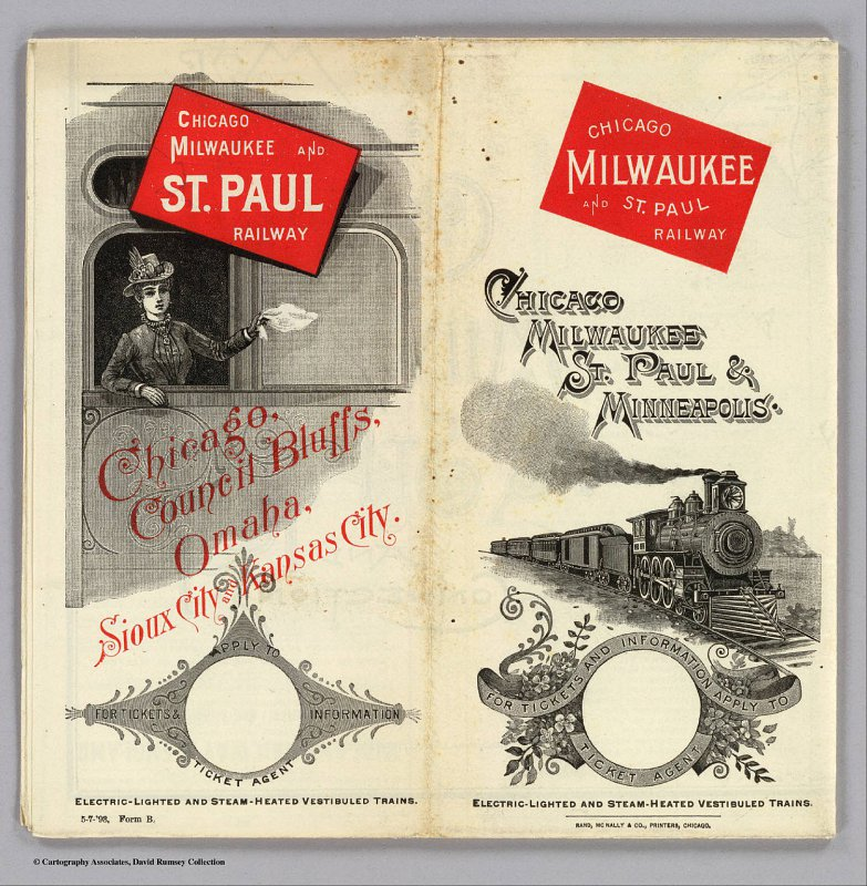 Chicago, Milwaukee, Saint Paul & Minneapolis Railway Advertisment