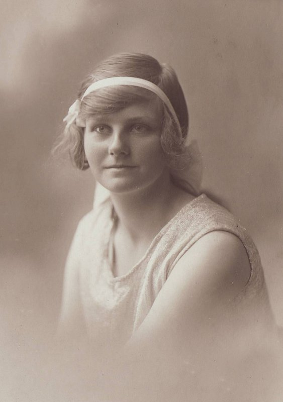 Mamie as a young woman